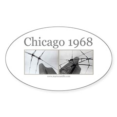 Chicago 1968 Oval Sticker