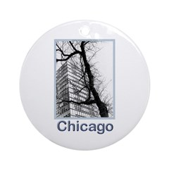 Chicago High-rise Ornament (Round)