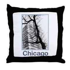 Chicago High-rise Throw Pillow