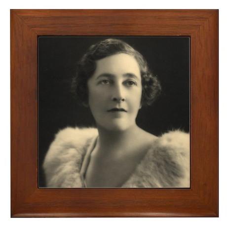 Agatha Christie Framed Tile
