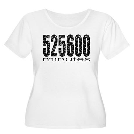 525600 Minutes Women's Plus Size Scoop Neck T-Shir