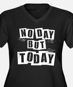 No Day Women's Plus Size V-Neck Dark T-Shirt
