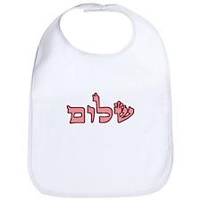 """""""Shalom"""" (Pink) Bib"""