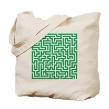 Green Maze Tote Bag