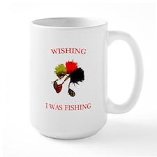 Wishing I was Fishing Mug