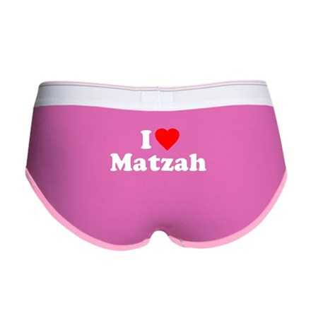I Love [Heart] Matzah Womens Boy Brief