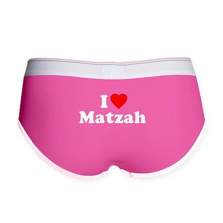 I Love [Heart] Matzah Womens Boy Brief