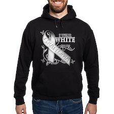 I Wear White for my Grandma Hoody