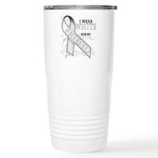 I Wear White for my Friend Travel Mug