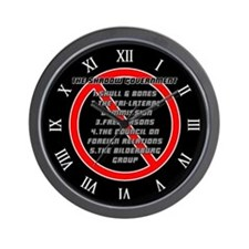 Anti-Masonic Wall Clock