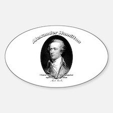 Alexander Hamilton 03 Oval Decal