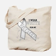 I Wear White for my Father Tote Bag