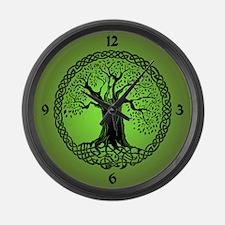 Celtic Wisdom Tree I.V. Large Wall Clock