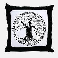 Celtic Wisdom Tree I.V. Throw Pillow