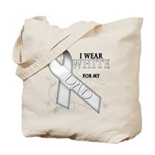 I Wear White for my Dad Tote Bag