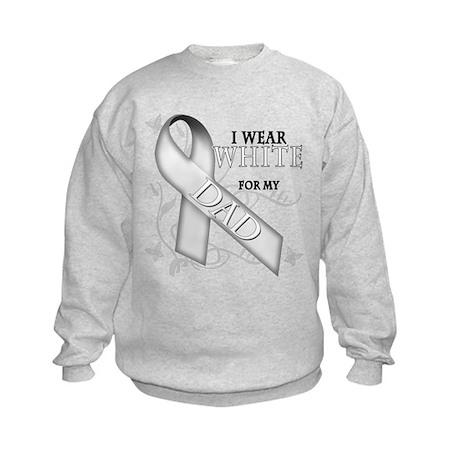 I Wear White for my Dad Kids Sweatshirt