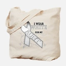 I Wear White for my Aunt Tote Bag