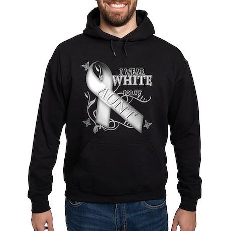 I Wear White for my Aunt Hoodie (dark)