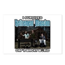 Retirement Mansion Postcards (Package of 8)