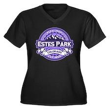 Estes Park Purple Women's Plus Size V-Neck Dark T-