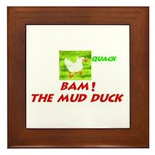 Mud Duck Framed Tile