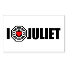 I Love Juliet - Dharma Rectangle Decal