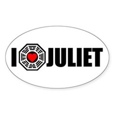 I Love Juliet - Dharma Oval Decal
