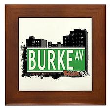 Burke Av, Bronx, NYC Framed Tile