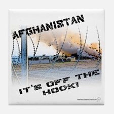 Afghanistan is Off the Hook Tile Coaster
