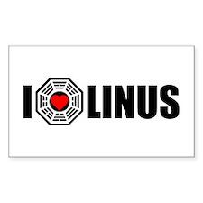 I Love Linus - Dharma Rectangle Decal