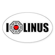 I Love Linus - Dharma Oval Decal