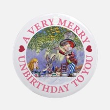 A VERY MERRY UNBIRTHDAY Ornament (Round)