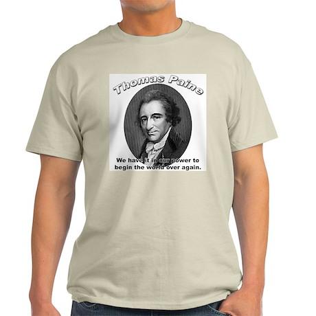 Thomas Paine 01 Ash Grey T-Shirt