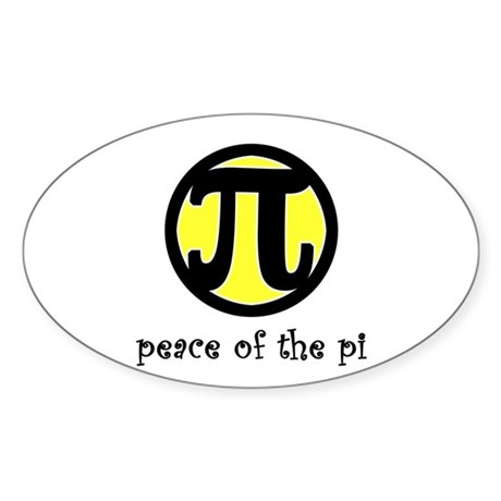 Peace of the Pi Oval Sticker