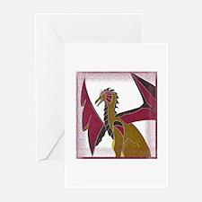Beastdiva Gold DragonGreeting Cards (Pk of 10)