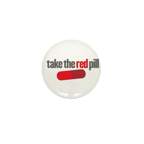 Take the red pill Mini Button (10 pack)