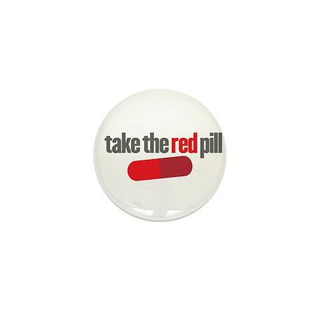 Take the red pill Mini Button