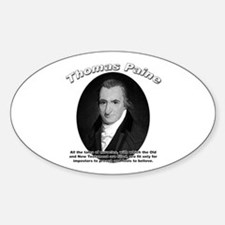 Thomas Paine 04 Oval Decal