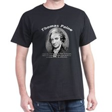 Thomas Paine 05 Black T-Shirt