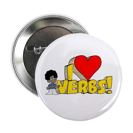 """I Heart Verbs - Schoolhouse Rock! 2.25"""" Button (10"""