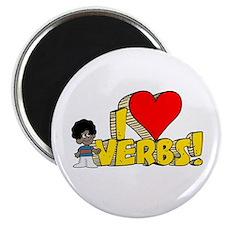 "I Heart Verbs - Schoolhouse Rock! 2.25"" Magnet (10"