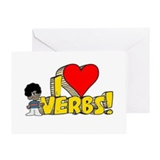 I Heart Verbs - Schoolhouse Rock! Greeting Card