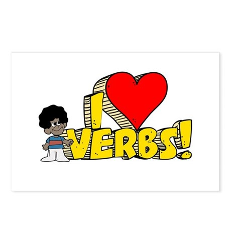 I Heart Verbs - Schoolhouse Rock! Postcards (Packa