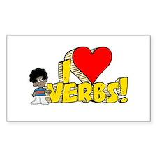I Heart Verbs - Schoolhouse Rock! Decal