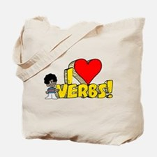 I Heart Verbs - Schoolhouse Rock! Tote Bag