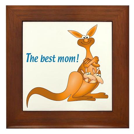 Kangaroo Mum with 2 Framed Tile