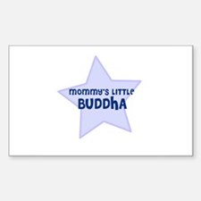 Mommy's Little Buddha Rectangle Decal