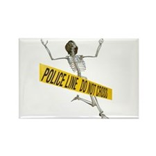 Crime Scene Skeleton Rectangle Magnet