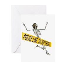 Crime Scene Skeleton Greeting Card