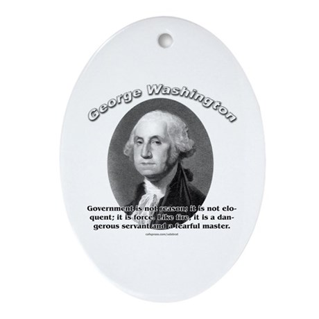 George Washington 02 Oval Ornament